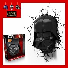 3D FX LED WALL DECO LIGHT - STAR WARS DARTH VADER HELMET AND/OR LIGHTSABER