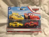 Disney Pixar Cars CHARLIE CHECKER & MCQUEEN 2020 MATTEL 1:55 DIECAST TOKYO DRIFT
