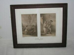 CHARLES WILKEN (1750-1814) PAIR OF ORIGINAL 1787 STIPPLE ENGRAVINGS. LISTED