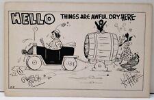 Artist Ken Holmes, Things are Aweful Dry Here Humor Travelcard Postcard C26