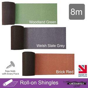 Chesterfelt Roll-On Shingles Ridge Roll | Shed Felt Shingles | Square Butt | 8m