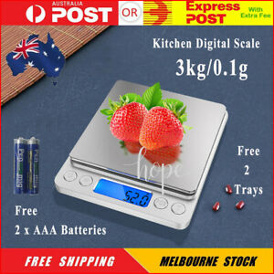 Kitchen Digital Scale 3kg/0.1g LCD Electronic Balance Food Weight Postal Scales