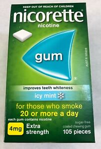 Nicorette Nicotine Gum 4mg Icy Mint 2625 Pieces 25 Boxes Fresh 04/2023