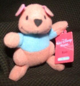 WALT DISNEY WORLD Mini Bean ROO Winnie The Pooh Friends Kellogg's 2001 Plush Toy