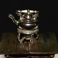 Miniature Sterling Silver Tea Kettle Dollhouse 1:12 Eugene Kupjack
