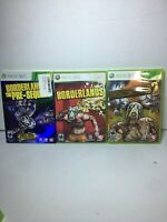 Borderlands Xbox 360 Games Collection Pre Sequel, 1, & 2 Bundle Lot Trilogy