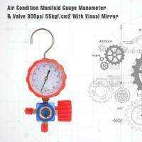 Air Condition Manifold Gauge Manometer & Valve Fit For R12 R502 R22 R410 R134A