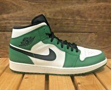 Nike Air Jordan 1 Mid - Pine Green White Black - Men's Shoes Size 16 852542-301