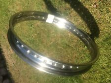 New old stock stainless steel wheel rim. WM2 x 19 x 40 hole.Bsa, Triumph Norton?