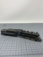TYCO HO SCALE #638 CHATTANOOGA  STEAM ENGINE & TENDER As Is For Parts R09