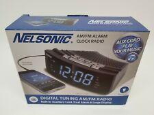 Nelsonic NLC618 AM/FM Radio Alarm Clock MP3 READY