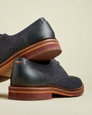 Ted Baker Formal Men's Shoes Navy Suede Derby Brogues Shoes RRP €195 UK10