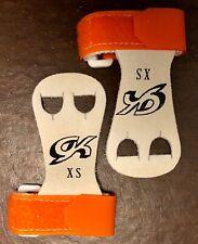 Was $15.99 Nwt Gk Elite Gymnastics Hand Grips With Straps Gk32 Orange Sz Xs