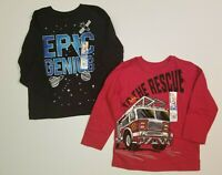 Garanimals Boys Epic Genius Shirt + To The Rescue Shirt Toddler Sizes 2T, 3T
