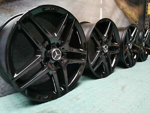 """REFURBISHED GENUINE 19"""" MERCEDES S CLASS W222 A217 STAGGERED ALLOY WHEELS"""