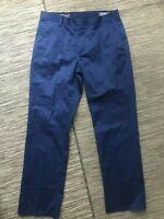 Bonobos Straight Fit Dress Pants Men's 32 x 32 Actual 31 x 29 Blue Cotton