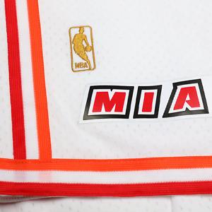 Mitchell & Ness Miami Heat 1996-97 Hardaway WHITE NBA GOLD LOGO Swingman Shorts