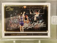 2019-20 Panini One and One John Stockton Timeless Moments Gold Autograph #06/10
