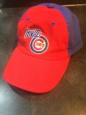 Iowa Cubs Strapback Hat Red and Blue Baseball Cap Emboridered    - Free Shipping