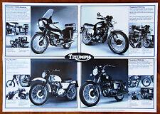 Triumph 650/750 Bonneville brochure Prospekt, 1981 (Meriden period)