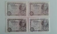 Neu - Lot Von Vier Banknoten Von 1 Peseta - Dame Von Elche - 1948