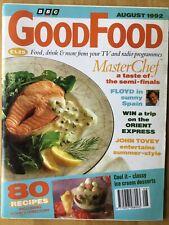 BBC GOOD FOOD MAGAZINE - AUGUST 1992 - FLOYD - MASTERCHEF - JOHN TOVEY