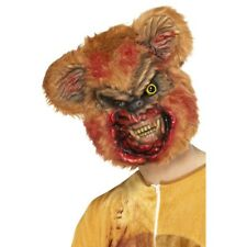 Zombie Teddy Mask Brown Bear Horror Halloween Fancy Dress Accessory