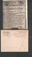 Jan 24 1944 WWII V Mail letter/cover Pfc Al Pralisi 208 Sig APO 510 Thatcham UK