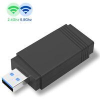 WiFi Clé Bluetooth Adaptateur USB3.0 1200Mbps Dongle Double Bande pour XP,Linux