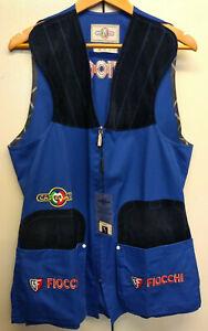 Castellani Sporting Skeet Cotton Vest - Gilet - Royal Blue - Fiocchi logo