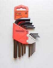 Chiavi esagonali in set Teng Tools 1479MMR 9 pezzi 1,5-10 mm codice 112690102