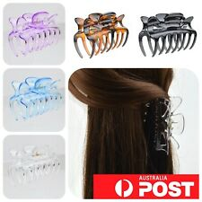 4pc/ Glossy Plastic 8.5cm Hair Claw Clip Styling Clamp Jaw Hairclip Accessory