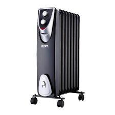 Radiador black edition sin aceite 8 elementos 500-1000-1500W bajo consumo