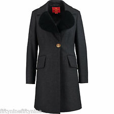 VIVIENNE WESTWOOD Red Label Cashmere and Wool Coat  size 42 UK 10 NEW AUTHENTIC