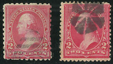 Scott 250 & 267, The Two Cent Washington Bureau Issue Stamps from 1894 & 1895