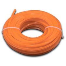 Ersatzfaden Trimmerfaden für Rasentrimmer 3mm x 15m (orange) 4-Eckig