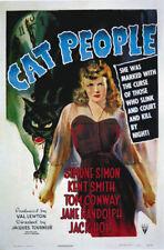 Cat people Simone Simon vintage movie poster print #2