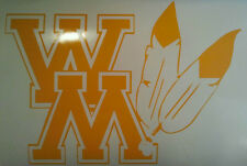WILLIAM and MARY NCAA DECALS - 2 CORNHOLE DECALS Vehicle Decals Free Circles
