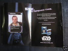 TCG STAR WARS AOTC PROMO PRERELEASE FIRST CARD EVER + BOOKLET VERY RARE