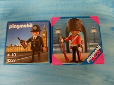 PLAYMOBIL  4577 and 9237 British Bobby or policeman and guard boxed
