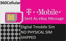 T-Mobile DIGITAL SIM card ICCID ONLY - DIY a new account number for port out