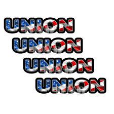 Union Us Flag Lunch Box Hard Hat Tool Box Helmet Sticker 4 Pack 3 Inch