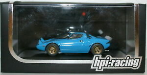 HPI 1/43 986 LANCIA STRATOS HF STRADALE LIGHT BLUE
