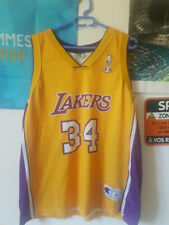 Shaquille O'Neal 34 Los Angeles Lakers NBA basketball jersey Champion size XL 48