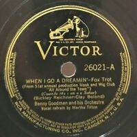 Benny Goodman Orch.: When I Go A Dreamin' / Blue Interlude: Victor 1938 (Jazz)