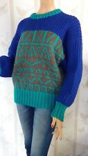 SIZE-12/14, HAND KNITTED Gorgeous Wool Mix Jumper.