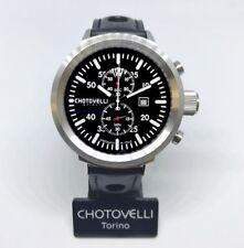 Chotovelli Big Pilot Men's Watch uboat homage Chronograph Italian leather 747.11