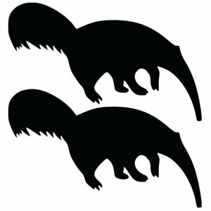 Qty 2 Anteater Car Window Wall Decals Any Colour VVV 10cm - 50cm