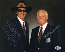 RICHARD PETTY & DALE INMAN DUAL SIGNED AUTOGRAPHED 8x10 PHOTO RARE BECKETT BAS