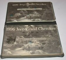 1996 JEEP GRAND CHEROKEE OWNERS MANUAL GUIDE BOOK SET WITH CASE OEM